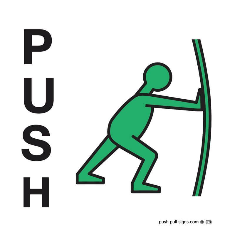 Push Sign Green