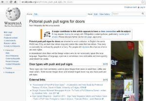 Wikipedia Push Pull Signs